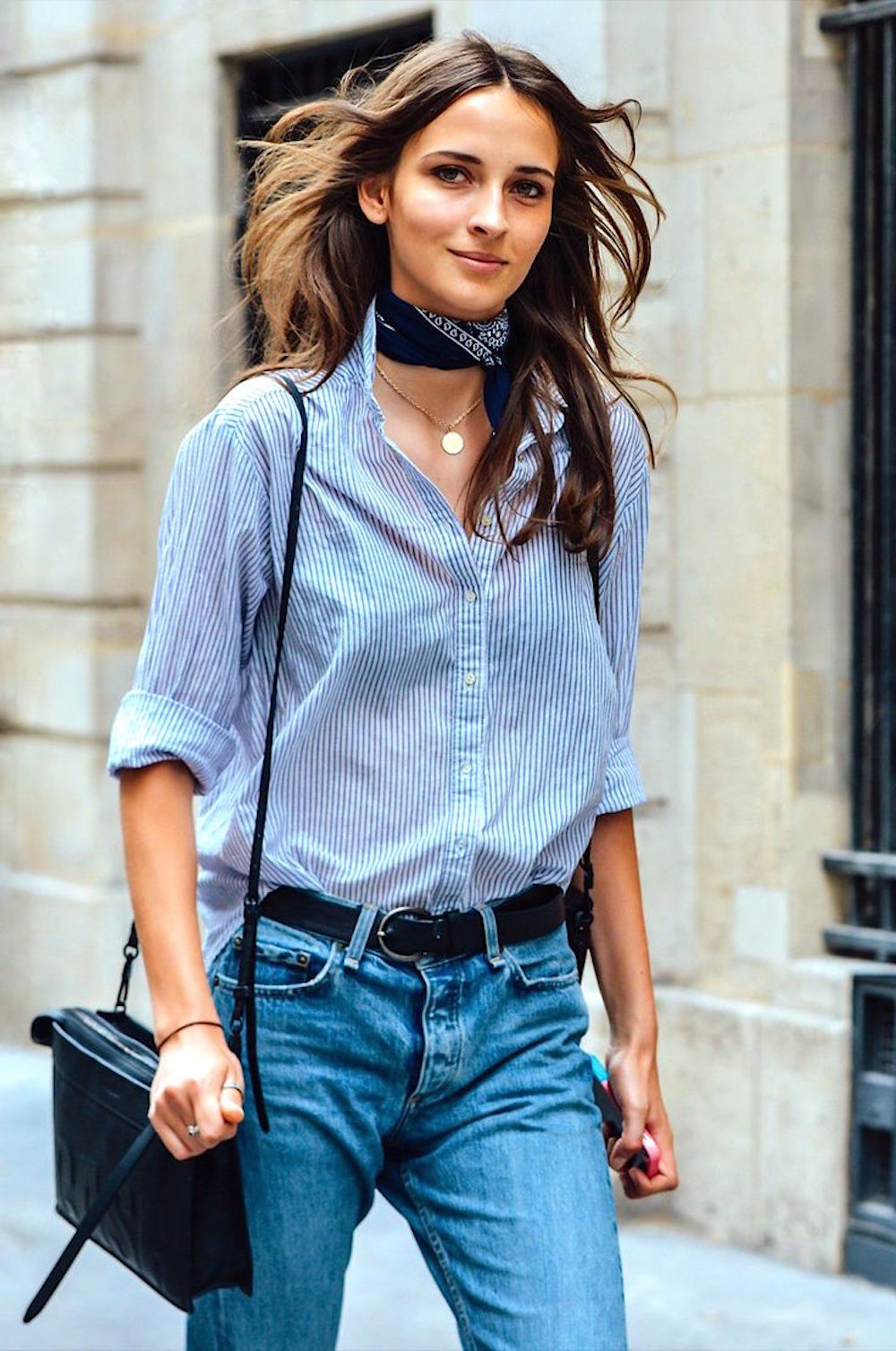 5 - denim street-style-blue-shirt-oracle-fox